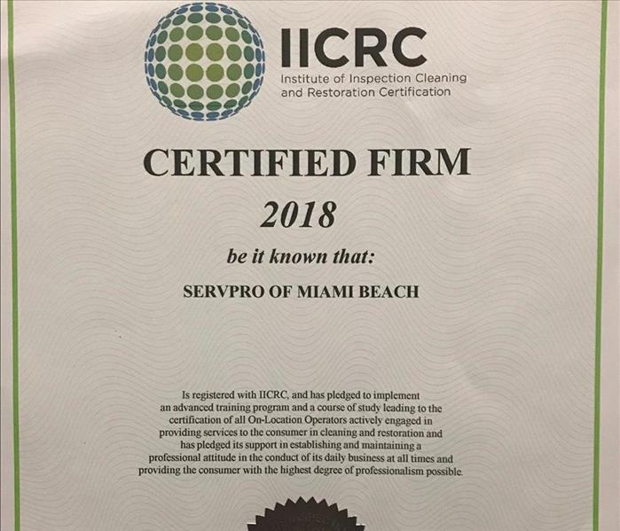 Commercial Proud to Be a Certified Firm in Miami Beach!
